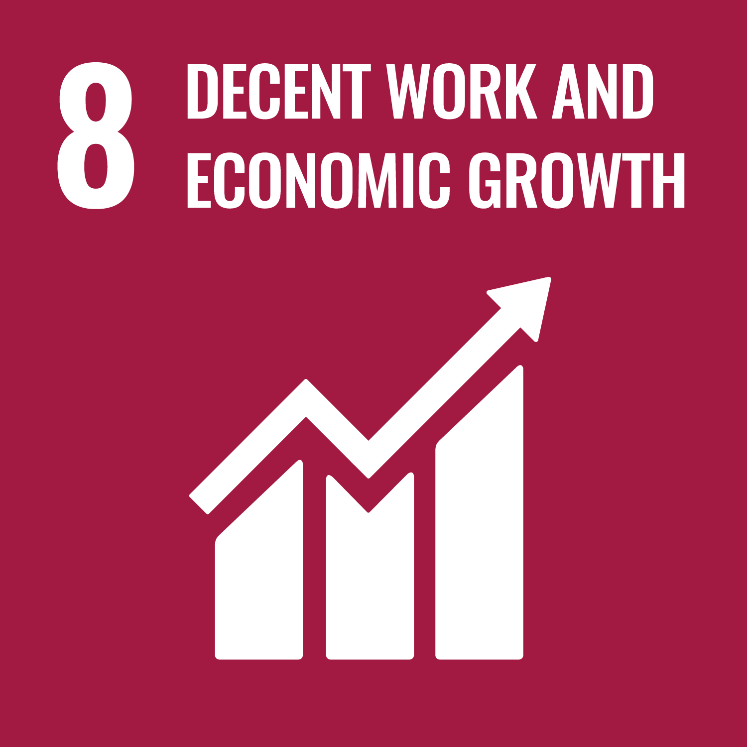 Decent work and economic growth.